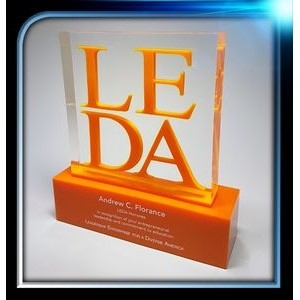 Custom Lucite Square Award w/Base (6